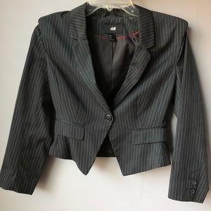 H&M Pinstripe Cropped Blazer Size 6